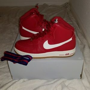 NIKE Air Force 1 AF1 High '07 Gym Red Blue Gum Men